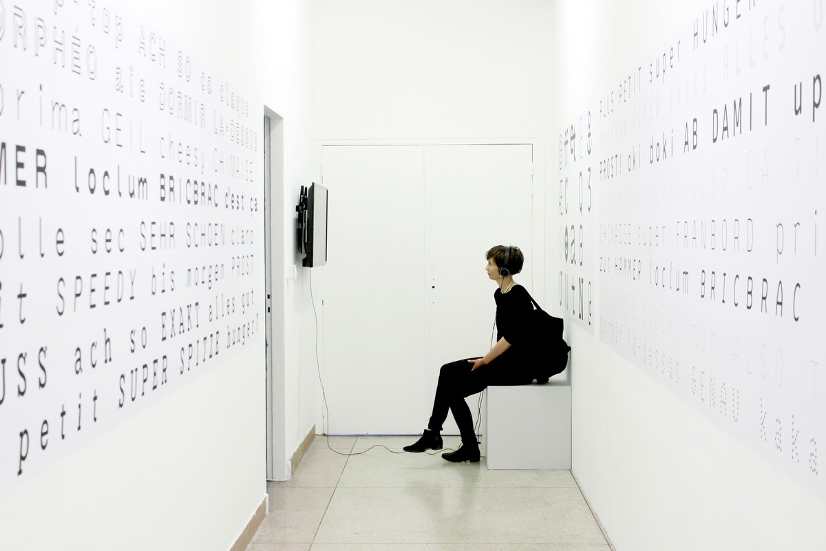 Vue de l'exposition baldinger•vu-huu, Poly-, Pluri-, Multi- © Le Portique, 2018